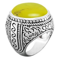 Bague argent turquoise mohave jaune