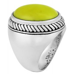 Bague argent & turquoise mohave jaune